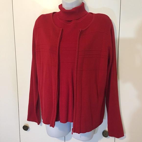 Christopher & Banks Tops - Christopher & Banks red sweater set